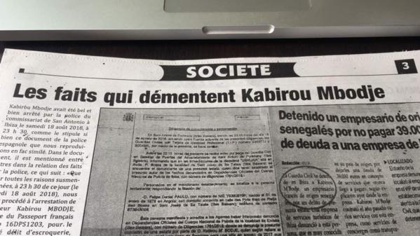 Arrestation de Kabirou Mbodje : L'AS persiste avec des preuves