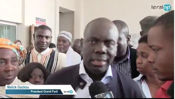 Parrainage : Le Grand Parti regrette l'absence du ministre de l'Intérieur