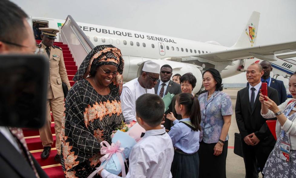 Les images de l'arrivée de Macky Sall en Chine