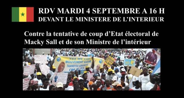 Manisfestation de l'opposition en direct  ( Ministère de l'interieur Sénégal )
