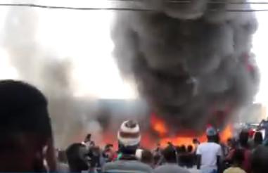 Incendie à Sandaga : Un magasin de tissus prend feu