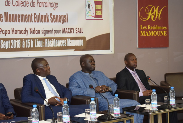 La campagne de parrainage du candidat Macky Sall.« Euleuk Sénégal » Pape Hamady Ndao lance le concept des « grands parrains »