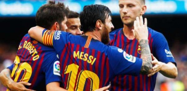 Ligue des champions: Le Barça déroule grâce à Messi et Dembelé
