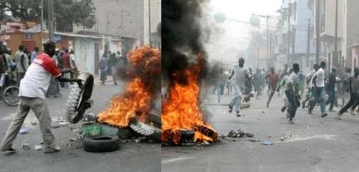 GUEDIAWAYE : Emeute dans la banlieue à cause des délestages. Les jeunes accusent Karim Wade