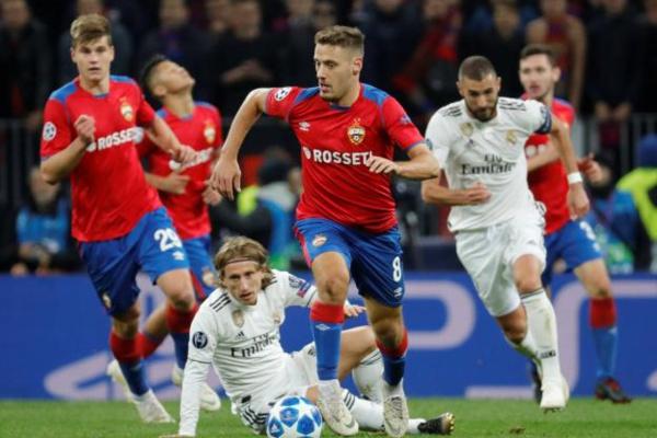 Le Real Madrid battu par le CSKA Moscou, la Roma corrige Plzen