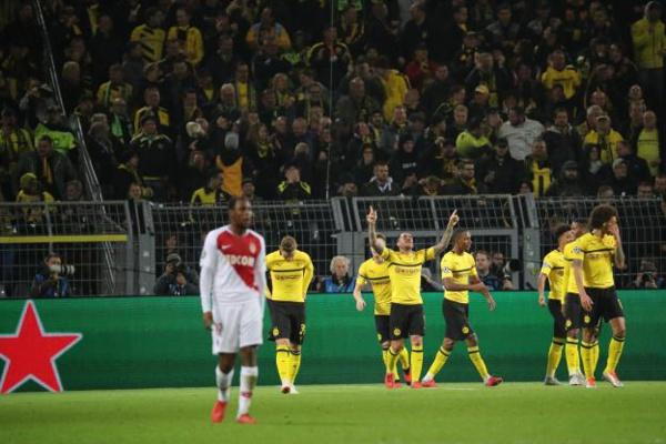 Monaco sans défense à Dortmund, la qualification pour les huitièmes de finale s'éloigne