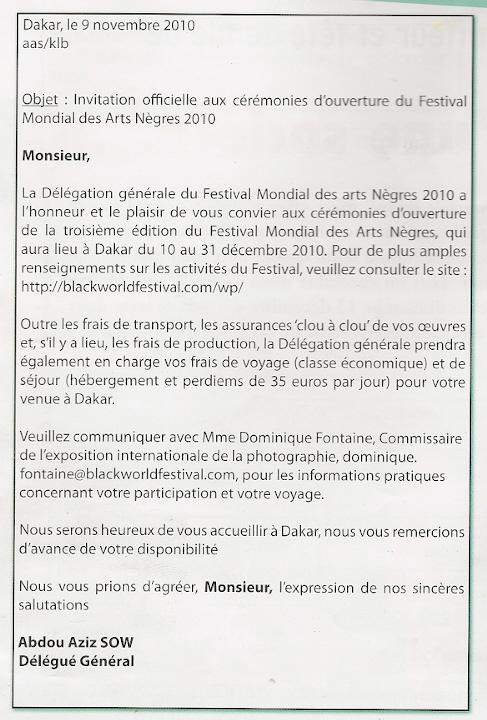[Document] L'artiste malienne Assetou Gologo met à nu les carences de la délégation générale du Fesman : « Qu'on me remette mon billet d'avion Et mon per diem »