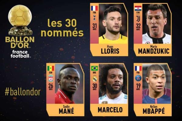 Ballon d'Or 2018 : Sadio Mané nominé !