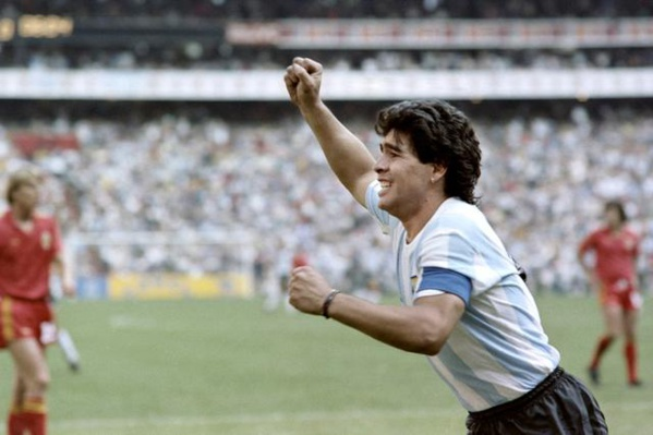 L'Argentin Diego Armando Maradona le 25 juin 1986 au Mexique