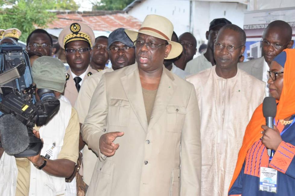 Lancement des travaux de l'Espace Numérique ouvert d'Oussouye par le chef de l'Etat Macky Sall