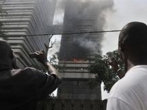 Incendie au siège du Trésor public à Abidjan