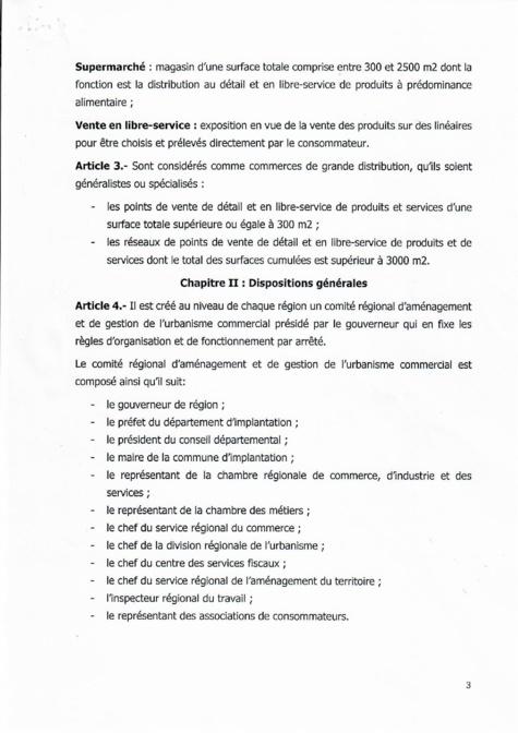 Décret 2018 1888 réglementant les commerces de grande distribution au Sénégal (document)