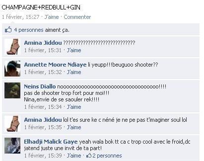 Whisky, Vodka, Gin, Red bull… le nouveau langage codé des jeunes filles sénégalaises sur facebook