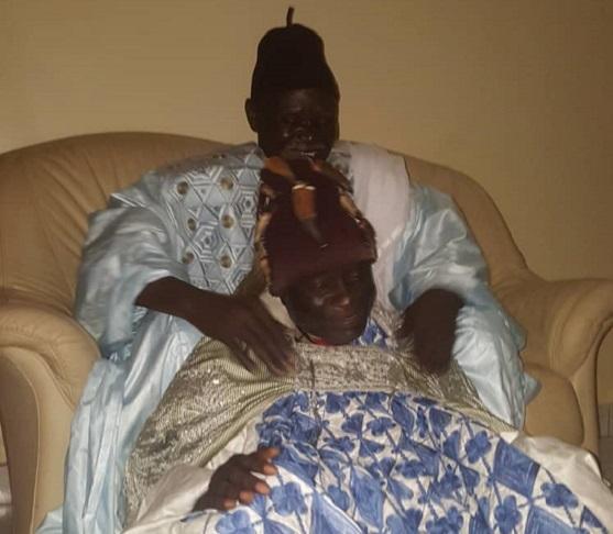 Moustapha Bassène et son marabout Serigne Moustapha Lakram Mbacké