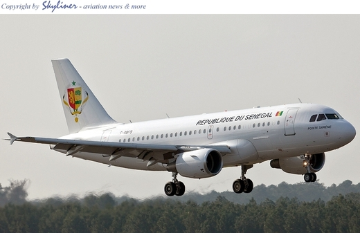 [Photo] Le nouveau joyau de Me Wade, un avion de type Airbus 319-100