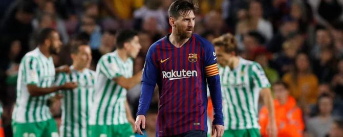 Le Barça surpris à domicile par le Betis, une première depuis 2016