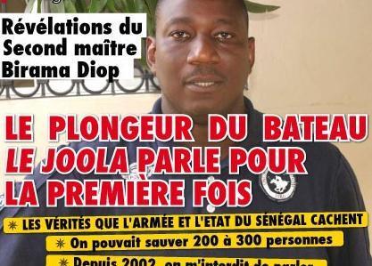 L'ex plongeur du bateau Le Joola reçoit des menaces de mort