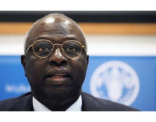 Jacques Diouf, directeur général de l'Organisation des Nations unies pour l'alimentation et l'agriculture (FAO)