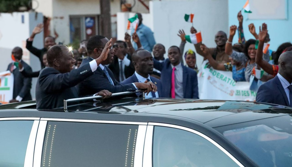 Arrivée du Président de la République de Côte d'Ivoire Alassane Ouattara à Dakar