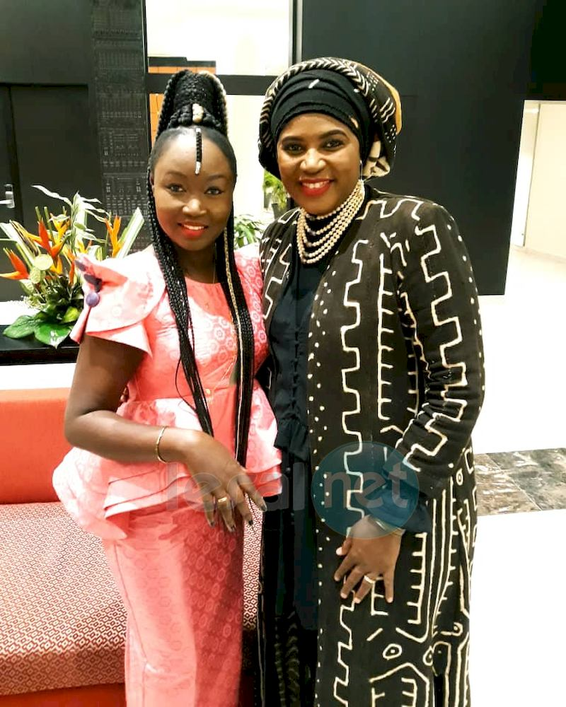 Maréma Fall avec Kamaldine de la Guinée