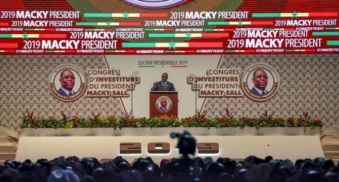 Congrès d'investiture :Macky Sall annonce diverses initiatives pour