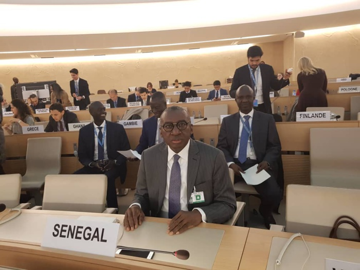 Allocution de Me Sidiki KABA, MAESE à l'occasion de l'élection du Sénégal à la présidence du Conseil des droits de l'homme