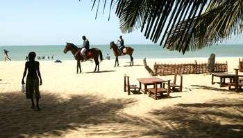 Les plages sénégalaises, comme ici à Mbour, n'attirent plus autant.