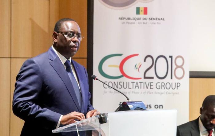 Groupe consultatif de Paris 2018 : Macky Sall