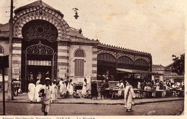 Sénégal : Le marché Kermel de Dakar dans les années 1940