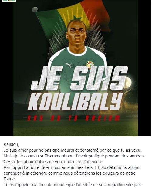 Sadio Mané soutient Kalidou Koulibaly: « Ces actes abominables ne vont nullement t'atteindre »