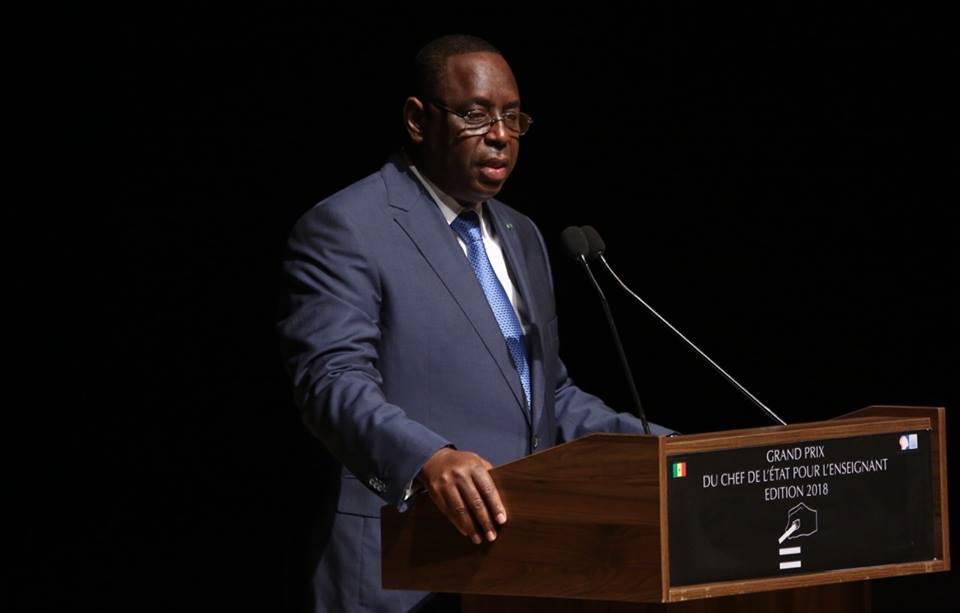 Photos: Macky Sall a remis le Grand Prix du Chef de l'Etat pour l'Enseignant 2018