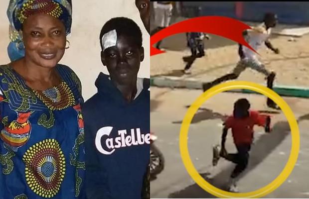Photos: L'enfant fauché par le scooter à Guédiawaye n'est pas mort
