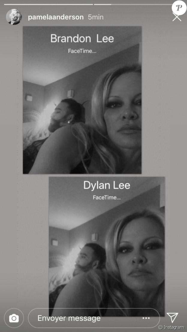 Selfie rare et intime de Pamela Anderson avec  Adil Rami