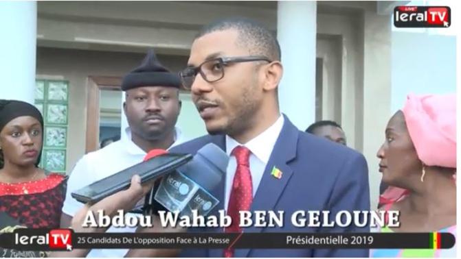 Vérification des parrainages : Abdou Wahab Ben Geloune demande « aux sages du conseil constitutionnel d'accepter qu'ils se sont trompés »