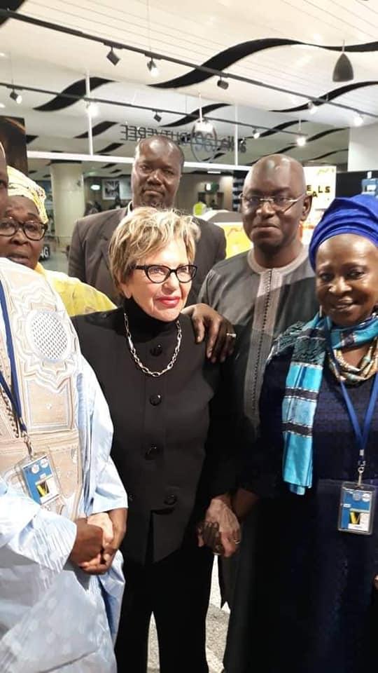 Vidéo-L'arrivée de Viviane Wade à l'aéroport Blaise Diagne