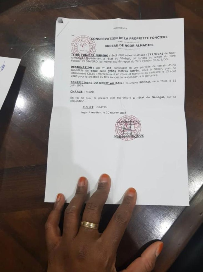 Les droits réels de l'immeuble de Ousmane Sonko évalués à 300 millions FCFA (documents)