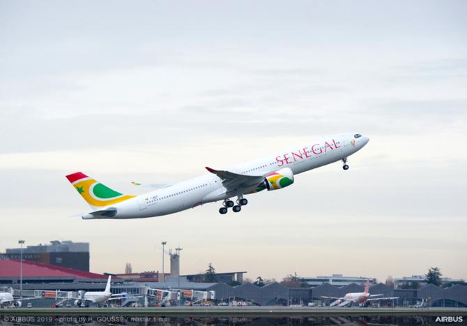 Atterrissage du premier Airbus A330Neo de la compagnie Air Sénégal, le jeudi 31 janvier à l'Aibd