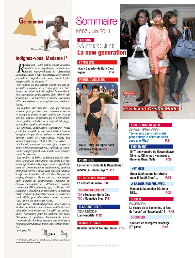 Photo : Voici le sommaire du magazine Icône de juin