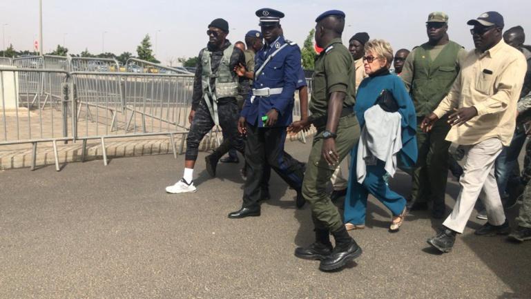 L'arrivée de Viviane Wade à l'Aéroport International Blaise Diagne