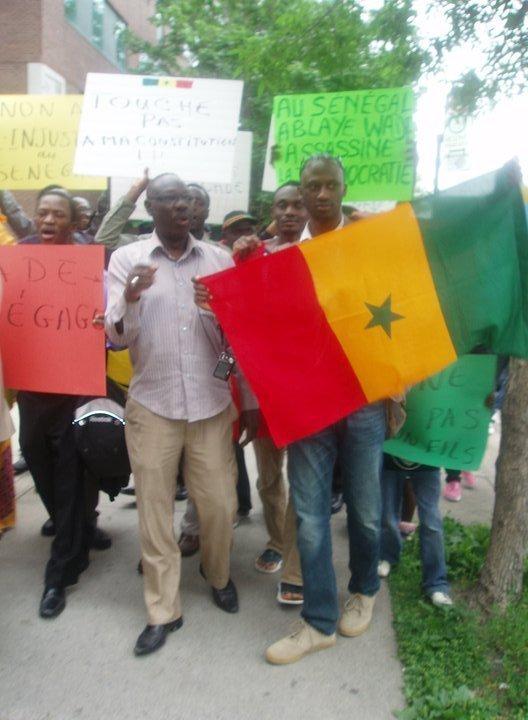 PHOTOS-Marche des Sénégalais à Montréal au Canada