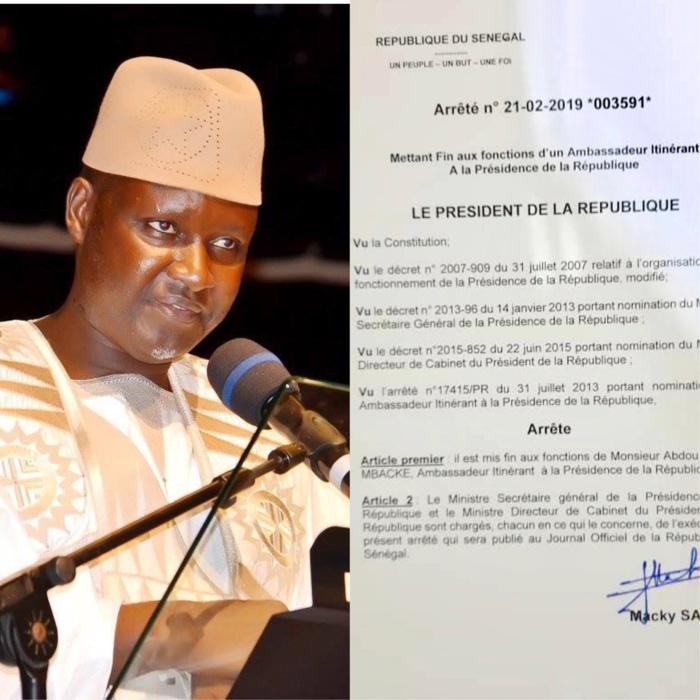 Soutien à Idrissa Seck : Serigne Abdou Samad Mbacké limogé
