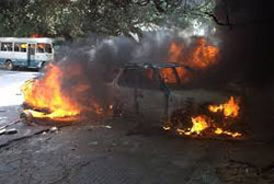 Saint-Louis: Le véhicule d'un responsable de l'APR consumé par le feu