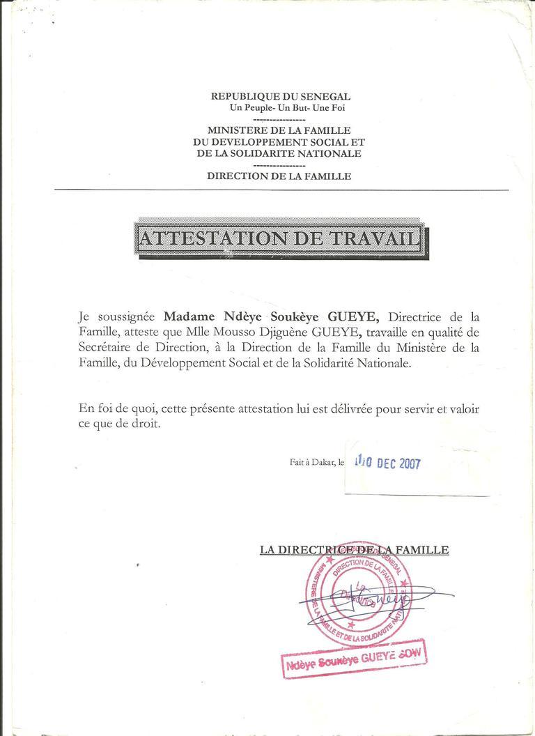 Mlle Djiguène Gueye