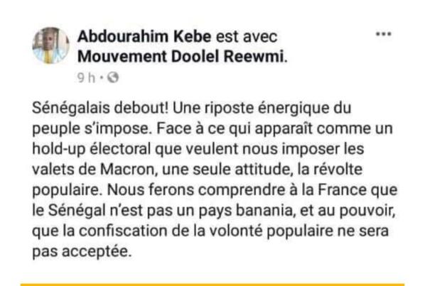Pourquoi la gendarmerie a arrêté le colonel Kébé