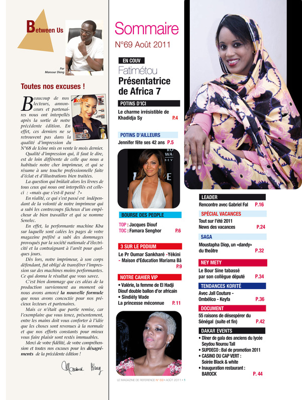 SOMMAIRE ICONE ET VIP N°69