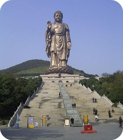 Grand Bouddha de Ling Shan (Wuxi, Chine) 88 m