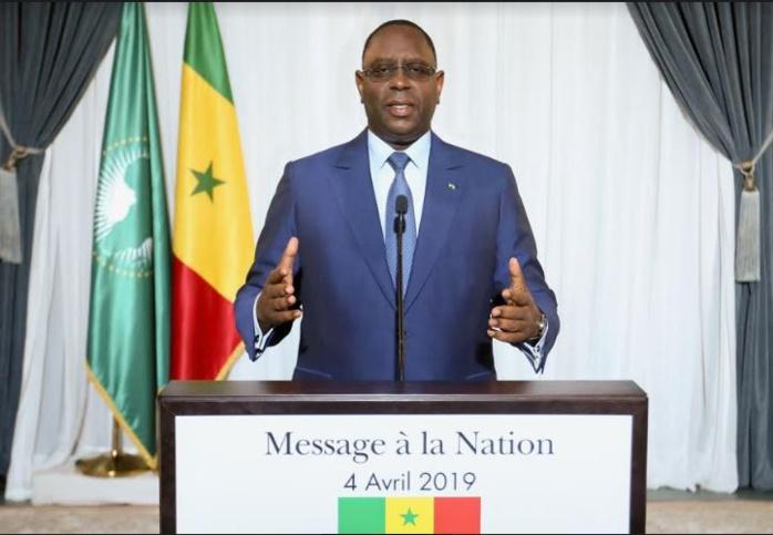 4 Avril 2019: Voici l'intégralité du Message à la Nation du Président de la République Macky Sall
