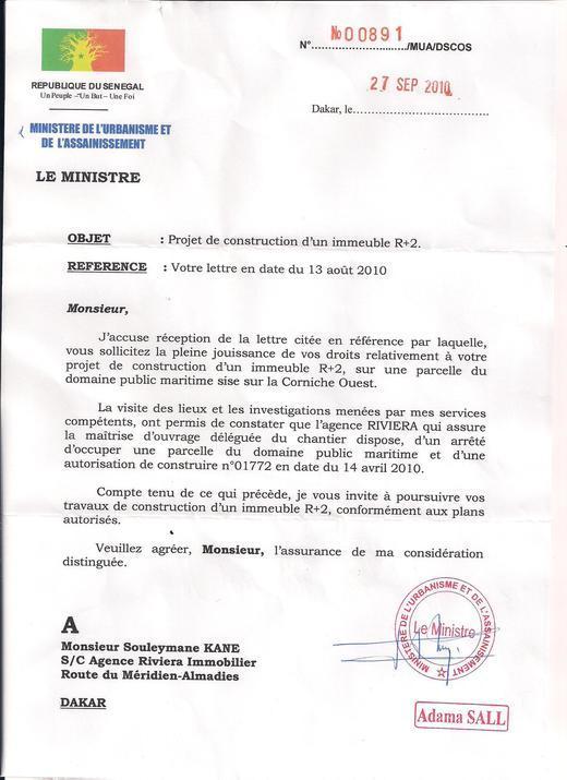 [Documents] Pourquoi le ministre Adama SALL  a été limogé ?