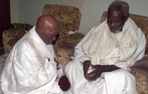 Visite tranquille de Wade à Boustane chez Serigne Cheikh