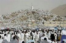 Les fidèles au  Mont Arafat